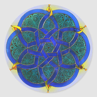 Islamic Art Classic Round Sticker