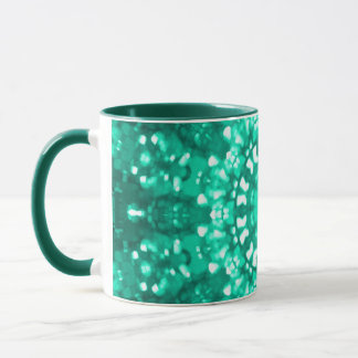 Islamic art green geometric mug
