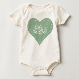 Islamic baby Aqiqah dress bismillah heart