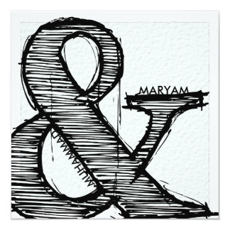 Islamic calligraphy Islam paper wedding engagement 13 Cm X 13 Cm Square Invitation Card