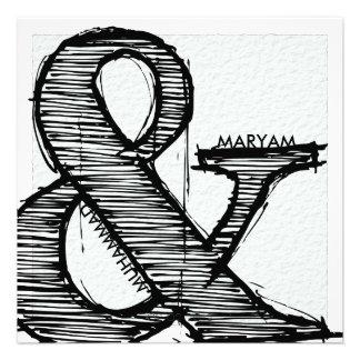 Islamic calligraphy Islam paper wedding engagement Invitation