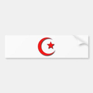 Islamic Crescent Bumper Sticker