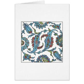 Islamic Floral Ceramic Tile 1 Greeting Card