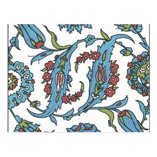 Islamic Floral Ceramic Tile 1 Postcard