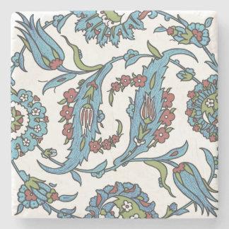 Islamic Floral Ceramic Tile #1 Stone Coaster