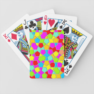 islamic geometric pattern bicycle playing cards