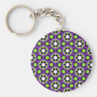 islamic geometric pattern key ring