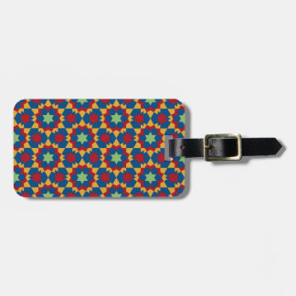 islamic geometric pattern luggage tag