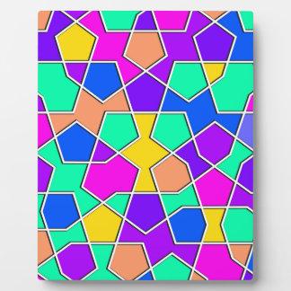 islamic geometric pattern plaque