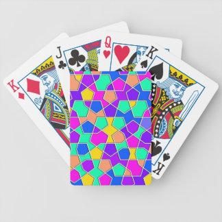 islamic geometric pattern poker deck