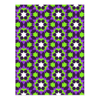 islamic geometric pattern postcard