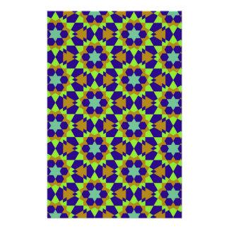 islamic geometric pattern stationery