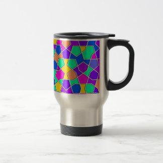 islamic geometric pattern travel mug