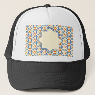 islamic geometric pattern trucker hat