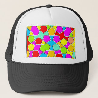 islamic geometric pattern trucker hat