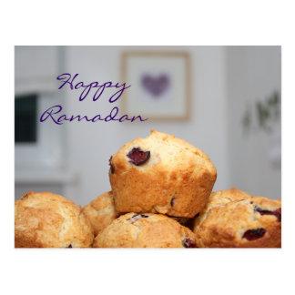 Islamic happy Ramadan kareem sweet muffin cupcakes Postcard