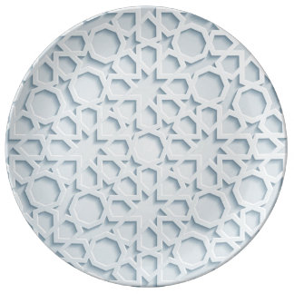 islamic inspired moroccan geometric pattern plate