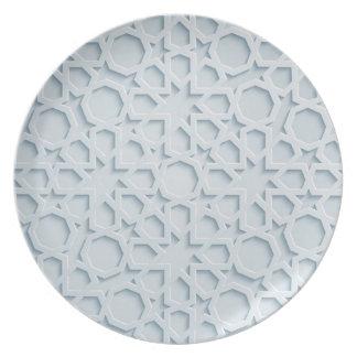 islamic inspired moroccan geometric pattern plate