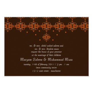 Islamic Islam wedding engagement damask Announcements
