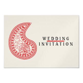 Islamic Islam wedding engagement pattern Card