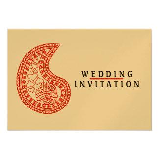 Islamic Islam wedding engagement pattern Custom Announcement