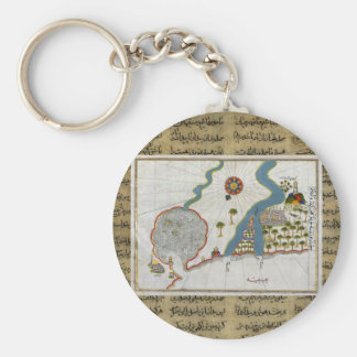 Islamic Map From Antiquity Key Ring