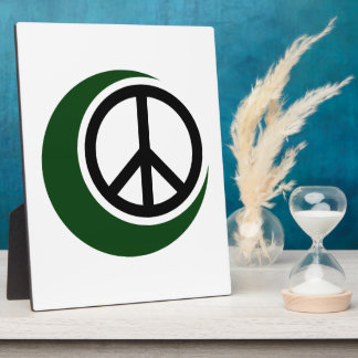Islamic Muslim Symbol with Peace Sign Plaques
