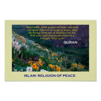 Islamic Poster (Islam religion of Peace)