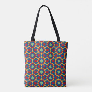 islamic religious geometric decoration pattern abs tote bag