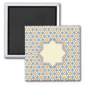 islamic religious geometric decoration pattern bac magnet