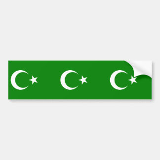 Islamic Republic Of Turkestan, Colombia flag Bumper Sticker