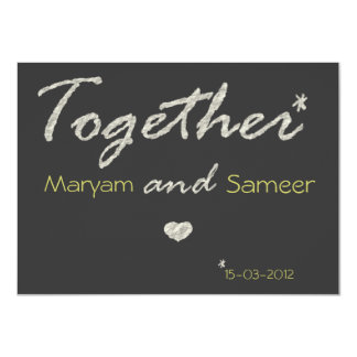 Islamic wedding engagement bismillah modern paper 11 cm x 16 cm invitation card