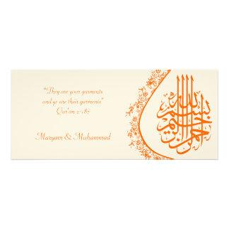 Islamic wedding engagement damask invitation card