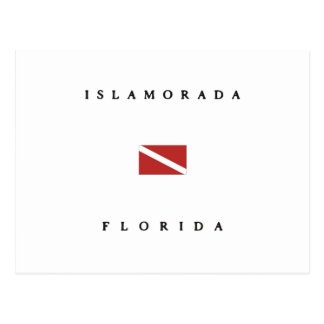 Islamorada Florida Scuba Dive Flag Postcard