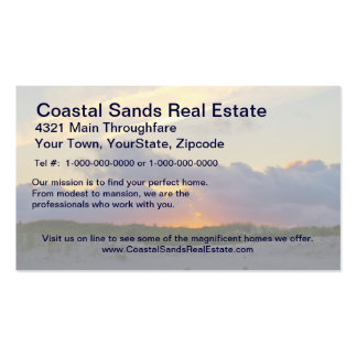 Island Beach State Park Sunset Over Dunes Pack Of Standard Business Cards