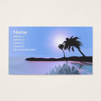 Island Blue - Business Size Business Card