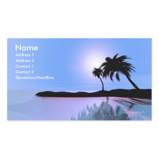 Island Blue - Business Size Business Card Templates