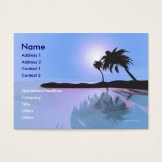 Island Blue - Chubby Business Card