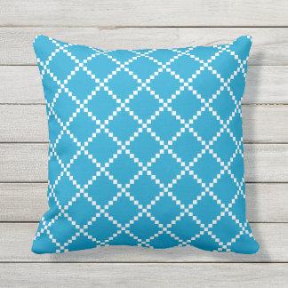 Island Blue Outdoor Pillows Scandinavian Pattern Throw Cushions