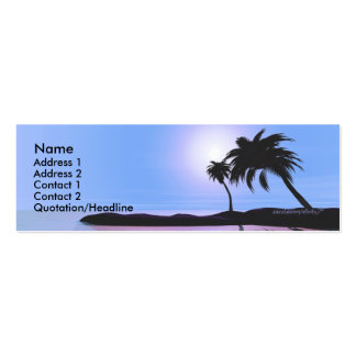 Island Blue - Skinny Pack Of Skinny Business Cards