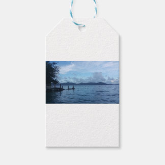 Island Boat Dock Gift Tags