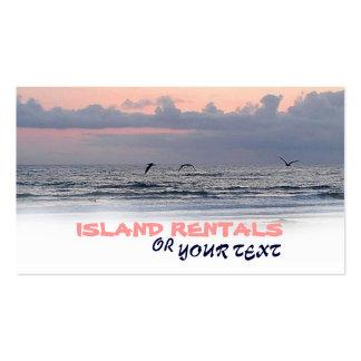 island business card