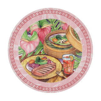 Island Cafe - Bamboo Steamer Cutting Board