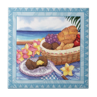 Island Cafe - Breakfast Lanai Small Square Tile