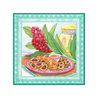 Island Cafe - Ginger and Pupus Canvas Print