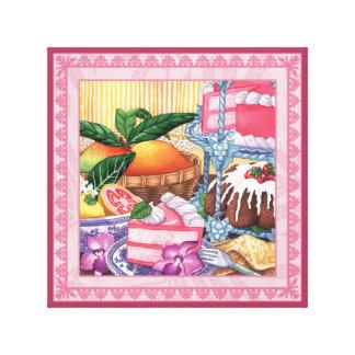 Island Cafe - Guava Chiffon Dessert Canvas Print
