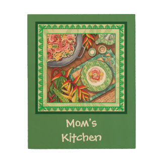 Island Cafe - Heliconia Wok Wood Canvases