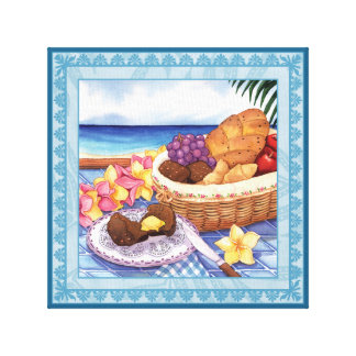 Island Cafe - On the Lanai Canvas Print