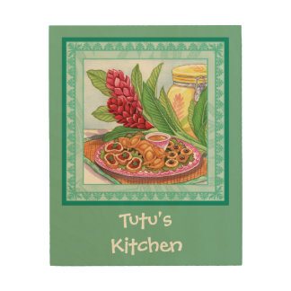 Island Cafe - Party Pupus Wood Canvases