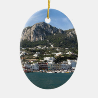 Island Capri panoramic Sea view Ceramic Ornament
